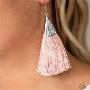Jewelry - Pink Fringe Earrings